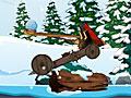 Зимняя военная катапульта