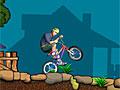 Король езды на заднем колесе велосипеда