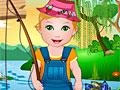 Малышка Джульетта на рыбалке