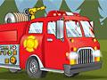 Спасение леса на пожарной машине