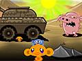 Счастливая обезьянка и танк